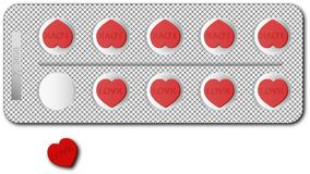 De tabletten van de liefde Royalty-vrije Stock Afbeeldingen
