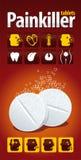 De tabletten van de pijnstiller Royalty-vrije Stock Afbeelding