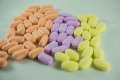 De tabletten van de vitamine C Royalty-vrije Stock Afbeeldingen