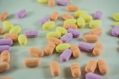 De tabletten van de vitamine C Stock Afbeelding