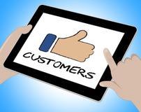 De Tablettenweb en Cliënt van klanten Online Middelen vector illustratie