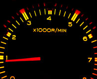 De tachometer van de auto Royalty-vrije Stock Afbeeldingen