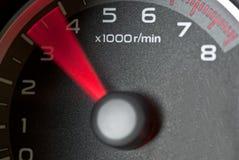 De tachometer van de auto stock afbeeldingen
