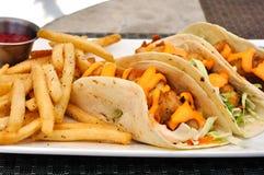 De Taco's van vissen Stock Afbeelding