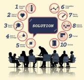 De Tactiek Grafisch Concept Strategiemethodes van de bedrijfs van Analytics stock afbeelding