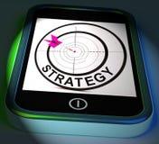 De Tactiek van de Vertoningenmethodes van strategiesmartphone en Spelplan vector illustratie
