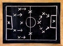 De tactiek van de voetbal royalty-vrije stock afbeeldingen