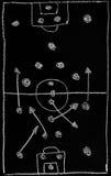 De tactiek van het voetbal stock foto's