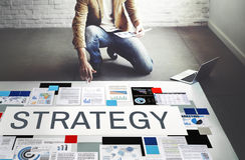De Tactiek van strategiestrategize Strategisch Planningsconcept royalty-vrije stock foto's