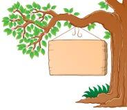 De tak van de boom in het beeld van het de lentethema Stock Foto