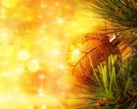 De tak van de kerstboom Stock Afbeeldingen