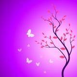 De tak van de lente met vlinders Royalty-vrije Illustratie