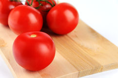 De tak van de tomatenkers op witte achtergrond Royalty-vrije Stock Foto