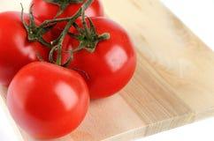 De tak van de tomatenkers op witte achtergrond Stock Fotografie