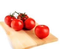 De tak van de tomatenkers op witte achtergrond wordt geïsoleerd die Stock Foto