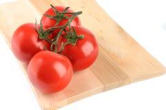 De tak van de tomatenkers op witte achtergrond wordt geïsoleerd die Stock Fotografie
