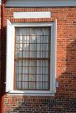 De tak van de detailmuur, baksteen, oud architectuurdetail stock afbeelding