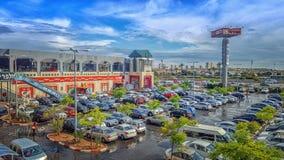 De tak van het huiscentrum in Rishon LeZion Stock Foto