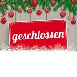De Takjessneeuw Houten Geschlossen van Kerstmissnuisterijen Stock Afbeelding