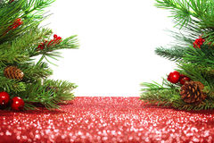 De takken van de kerstboom Royalty-vrije Stock Foto's