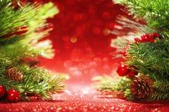 De takken van de kerstboom Stock Foto
