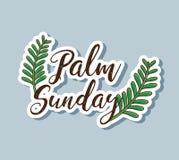 De takken van de zondagpalm aan traditionele godsdienst vector illustratie