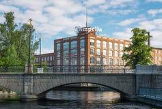 De Tampellabouw in Tampere, Finland stock foto's