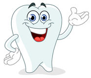 De tand van het beeldverhaal stock illustratie
