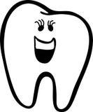 De tand van het meisje met oogzwepen Royalty-vrije Illustratie