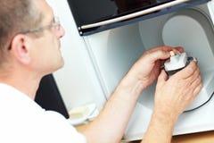 De tand van het pleister in 3D scanner royalty-vrije stock foto's