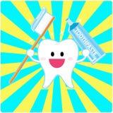 De tand van Smiley Royalty-vrije Stock Foto's