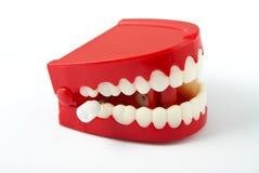 De tanden die van Chattering net onder ogen zien Stock Foto's