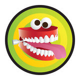 De Tanden van de grap Stock Fotografie
