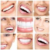 De tanden van de vrouw Stock Foto