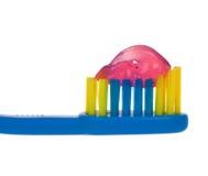 De tandenborstel van de baby stock foto