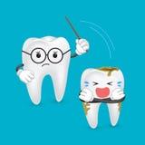 De tandenimplant van de beeldverhaalleraar Royalty-vrije Stock Foto