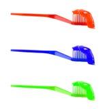 De tandpasta van de tandenborstel Royalty-vrije Stock Afbeeldingen