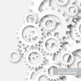 De tandraderen van het mechanismesysteem Stock Afbeeldingen