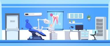 De tandzaal van Hospital Or Clinic van de Bureau Binnenlandse Lege Tandarts stock illustratie