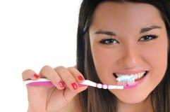 De tandzorg van de vrouw Stock Afbeelding
