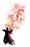 De tango van de hartstocht. vector illustratie