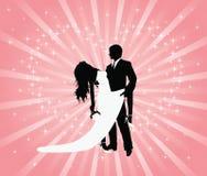 De tango van het huwelijk. Stock Foto's
