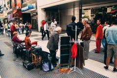 De Tangodansers van Argentinië Buenos aires in Calle Florida royalty-vrije stock afbeeldingen
