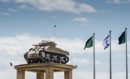 De Tank op de Toren bij Gepantserd de Korpsenmuseum van Latrun royalty-vrije stock afbeeldingen