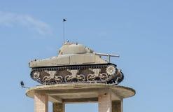 De Tank op de Toren bij Gepantserd de Korpsenmuseum van Latrun royalty-vrije stock foto's