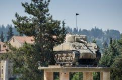 De Tank op de Toren bij Gepantserd de Korpsenmuseum van Latrun royalty-vrije stock fotografie