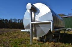 De tank van de biogasopslag Royalty-vrije Stock Foto's