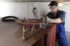 De Tank van de olietank het schoonmaken Royalty-vrije Stock Foto's