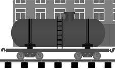 De tank van de spoorweg. stock illustratie
