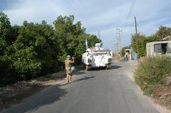 De Tank van de V.N. in Libanon Stock Foto